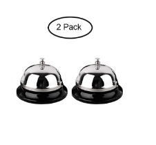 2 Metal Desk Bells