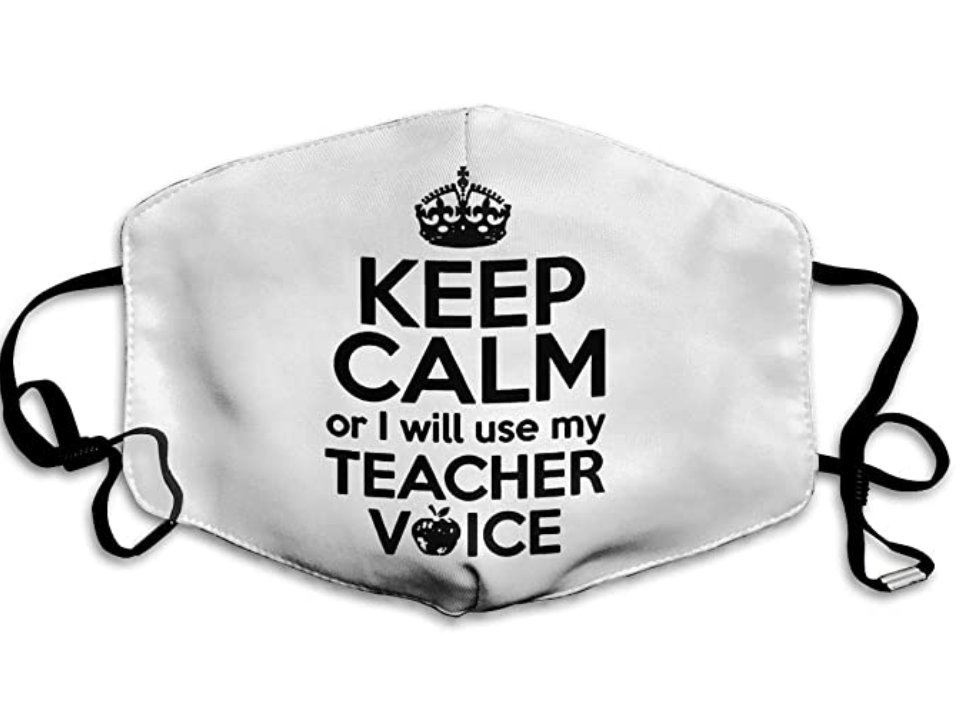 Keep Calm Teacher Face mask