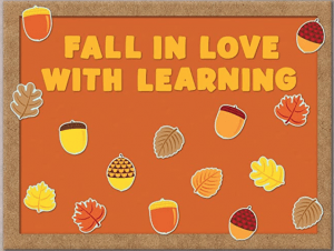 Fall in Love with Learning Bulletin Board