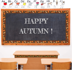 Happy Autumn Bulletin Board Boarder