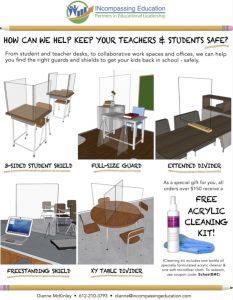 PPE Acrylic Plexiglass Shields for Schools